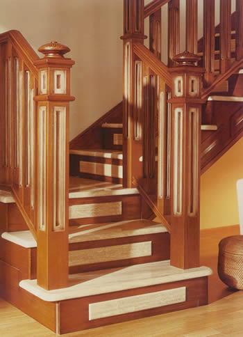 Escaleras y barandas comercial andrade de maderas - Barandas de madera para escaleras ...